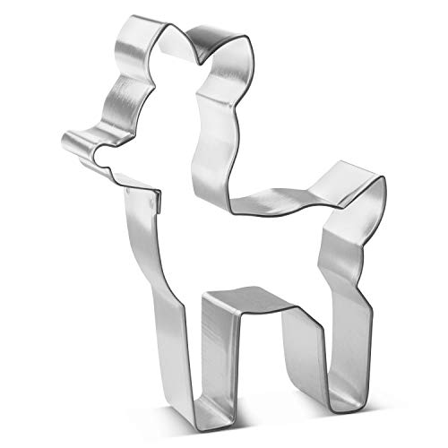 Fawn Deer Cookie Cutter 4.25 in B1899 - Foose Cookie Cutters - USA Tin Plated Steel