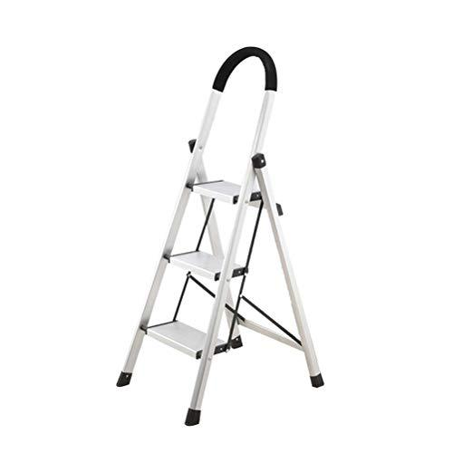 AMBH opstapladder voor volwassenen, met armleuning, draagbare multifunctionele ladder, klapstoel 3.14