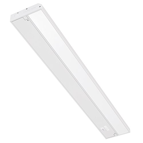 GetInLight 3 Color Levels Dimmable LED Under Cabinet Lighting with ETL Listed, Warm White (2700K), Soft White (3000K), Bright White (4000K), White Finished, 24-inch, IN-0210-3