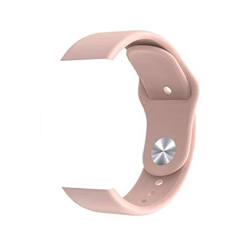 SmartWatch Silicone Strap para x6 más Y68 Y68 Plus X6 Plus YX11 Smart Watch Women Men Durable Pluggable Watch Strap (Color : Pink)