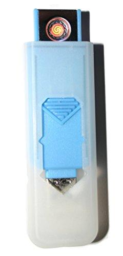USB Smart Feuerzeug von Champ High Power Lange Lebensdauer Wiederaufladbare Zelle Keine Flamme Kein Gas Nachfüllbare Qualität Smart USB Igniter Blue