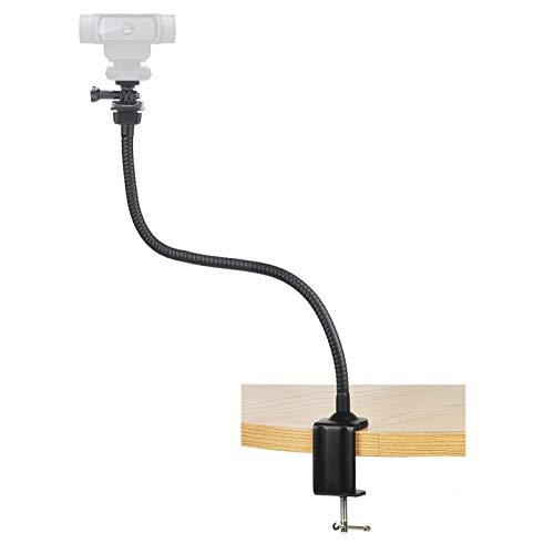 Webcam Halterung-64cm Klemme Tisch Halter,Webcam ständer für Live Stream für Logitech Webcam c925e, C922 X, C930e, C922, C930, C920, C615, für GoPro Hero 8/7/6/5, Arlo Ultra/Pro/Pro 2/Pro 3/Brio 4 K