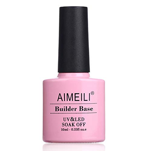 AIMEILI 10ml Clear Builder Gel 2 in 1 Nail Extension Builder Base Gel Soak Off UV LED Nail...