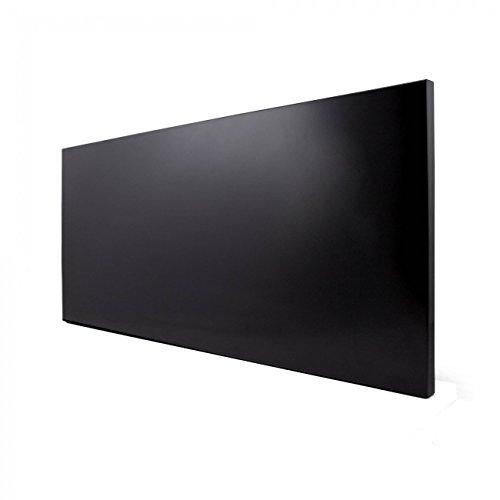 banjado Design Magnettafel schwarz | Wandtafel magnetisch 37x78cm groß | Metall Pinnwand | Memoboard mit Magneten und Montageset