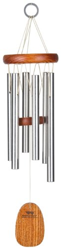 Woodstock Chimes AGSS The Original Guaranteed Musically Tuned Amazing Grace Chime, Small, Silver