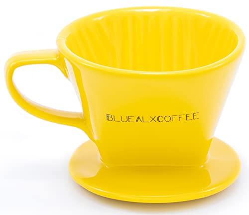 Blue Alx Coffee Ceramic Coffee Dripper - Size 02 / Yellow