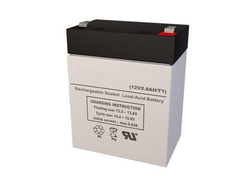 LP12-2.9 12 Volt 2.9 AmpH SLA Replacement Battery with F1 Terminal