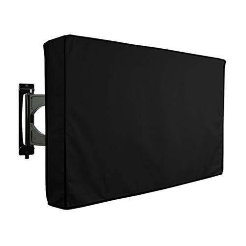Garneck Wetterfeste TV-Abdeckung für Den Außenbereich Staubdichtes Material TV-Schutztuch zum Schutz Ihres Fernsehers (65-70 Zoll Schwarz)