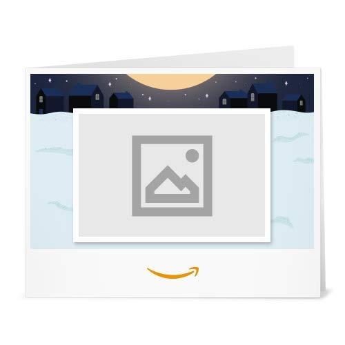 Amazon.de Gutschein zum Drucken mit eigenem Upload (Weihnachtsmann im Kamin)