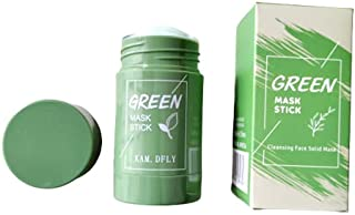 MUSK Green Tea Purifying Clay Stick Mask Oil Control Anti-Acne Eggplant Solid Fine, Portable Cleansing Mask Mud Apply Mas...