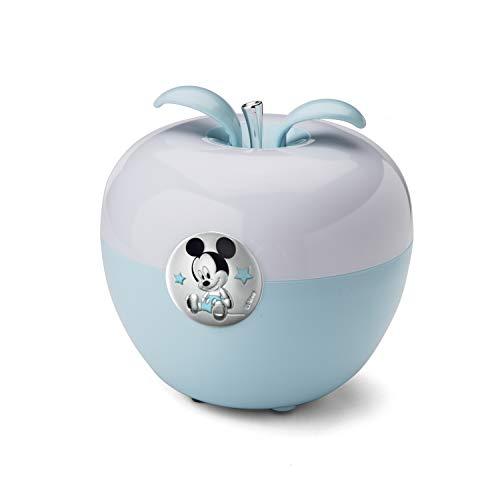 Valenti & Co - Disney Topolino - Luce Notturna Bambini con Lampada LED Colorata per Cromoterapia da Comodino, Comandi Magici con il Soffio e Finiture in Argento