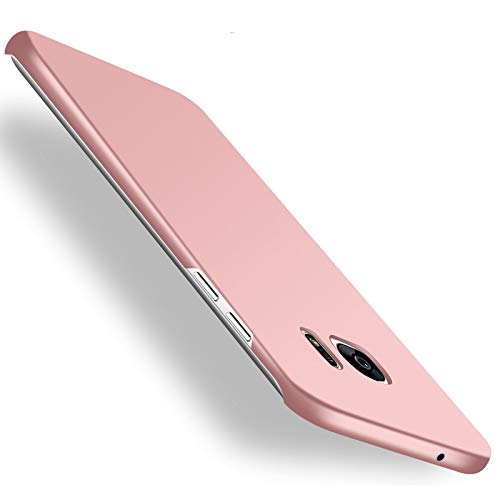 Galaxy S7 edge Case,Heyqie[SKIN TOUCH FEEL] Ultra-thin Metallic Texture Anti-fingerprint/skid/fade PC Back Protective Phone Cover Case for Samsung Galaxy S7 Edge G9350 - Rose Gold