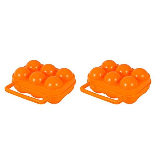 Yardwe 2 Portabebés con Mango Contenedor Portátil para Huevos para Acampar Y Viajar Caja de Almacenamiento de Plástico para Huevos Ahorro de Mochila para Senderismo Aire Libre 15X15.