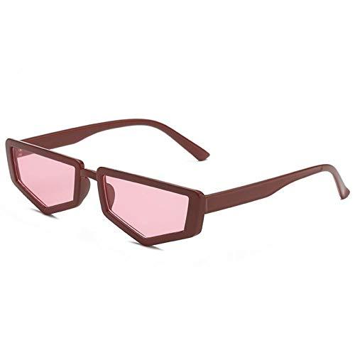 ZZOW Gafas De SolRetro Polygon Small Triangle para Mujer, Diseñador De Marca,Gafas De Sol DeModa paraMujer, Gafas De Sol Uv400