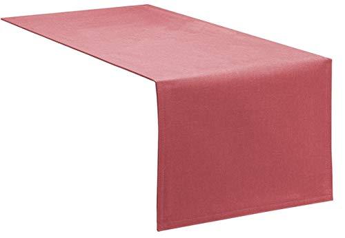 Tischläufer Tischband Fleckschutz Lotus Effekt Garten Leinenoptik abwaschbar in 3 Größen und 14 Farben Farbe: altrosa 40x100 cm