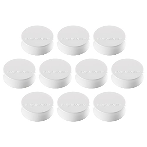 Ergo Magnete Large, Durchmesser 34 x 12.5 mm, 10 Stück, weiß