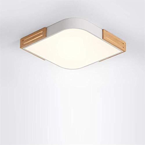 Thumby plafondlampen, plafondlampen, noord-stijl, plafondlamp, wit, eenvoudig, modern, eigentijds vierkant, creatief groot, puur hout, slaapkamer, hanglamp, atmosfeer, klein appartement, woonkamer, lamp