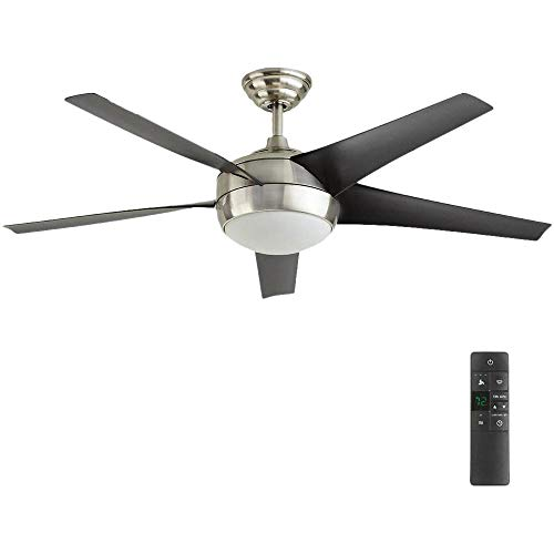 Windward IV 52 in. LED Indoor Brushed Nickel Ceiling Fan...