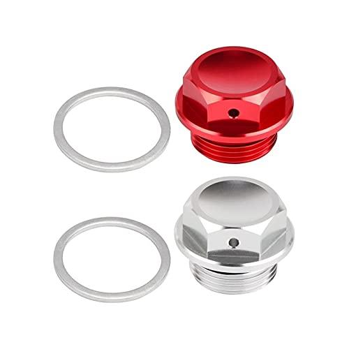 PINGGUO BOOY-Store Ajuste para el tapón de Drenaje de Aceite magnético de Aluminio M22 x 1.5 22mm x 1.5 Coche de Motocicletas (Color Name : Sliver, Specifications : M22X1.5)