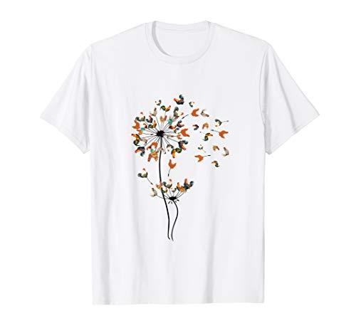 Dandelion Chicken Flower Shirt - Floral Chicken Tree Lover T-Shirt