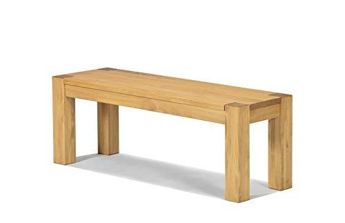 Naturholzmöbel Seidel Sitzbank 120x38cm Rio Bonito Farbton Honig hell Bank Massivholz Pinie geölt und gewachst, Optional: passende Bankauflagen und Tische