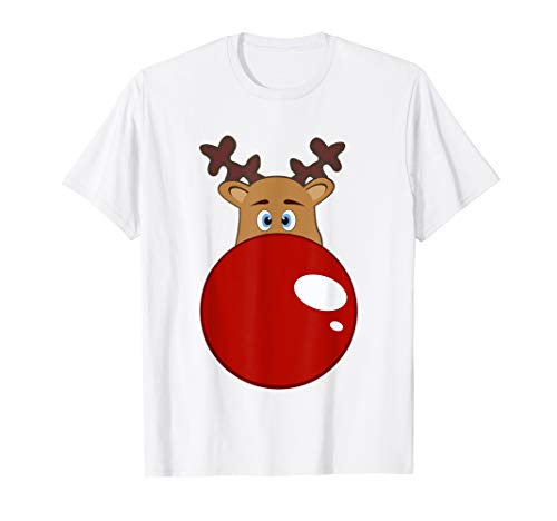 Rudolf with the red nose - big nose - Merry Christmas T-Shirt