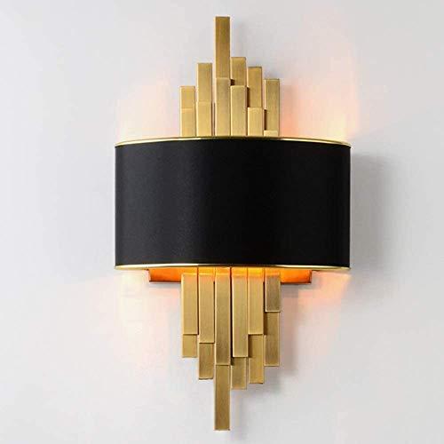 YUMUO Lámpara de pared simple postmoderna creativa de pared para sala de estar, dormitorio, pasillo modelo habitación, villa diseñador restaurante oro negro lámpara de pared 300 x 550