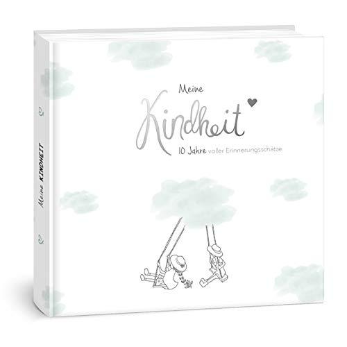 """mintkind®""""Meine Kindheit"""" Erinnerungsalbum I deine ersten 10 Jahre I Fotoalbum Kinder Geschenke zur Geburt Babybuch zum Eintragen Tagebuch Kinder"""