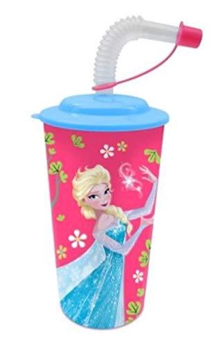 Frozen - Die Eiskönigin Elsa & Olaf 3D Trinkbecher mit Strohhalm