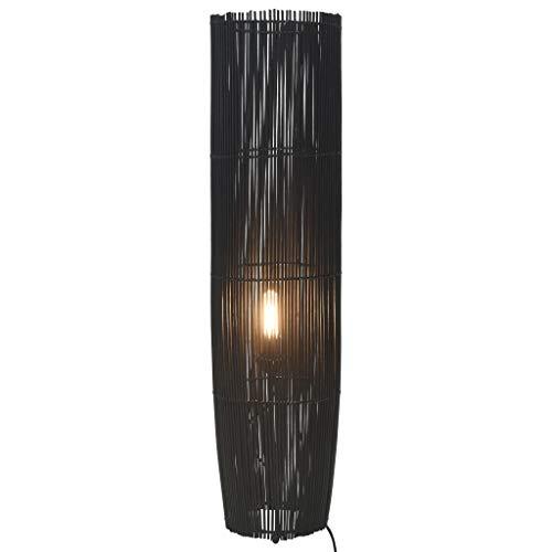 Cikonielf Lámpara de pie de bambú de mimbre Rattan E27 Lá