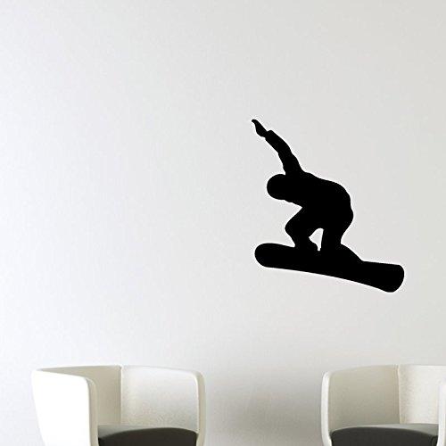 Ambiance-Live Wandtattoo Snowboarder - 30 x 30 cm, Schokolade