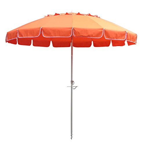Find Cheap Bayside-21 8ft Premium Heavy Duty Fiberglass Beach Umbrella UPF 50+ with Sand Anchor Tilt...