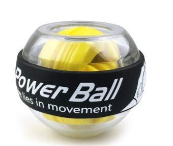 KeLuZi LED Wrist Ball Trainer Gyroscope Strengthener Gyro Power Ball Arm Exerciser Exercise Machine Gym Fitness Equipment (Yellow)
