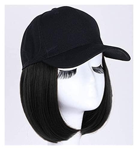 Jsmhh Baseball Cap Wig Hat Fluffy Natural Wave Wig Women's Baseball Cap Men Funny Peaked Cap Wig Decoration Sun Hat Bobo Head