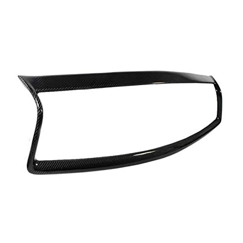 Oneuda Real Carbon Fiber Car Front Bumper Racing Grill Outline Moulding Trim Cover Frame Overlay For Infiniti Q50 S 2014 2015 2016 2017