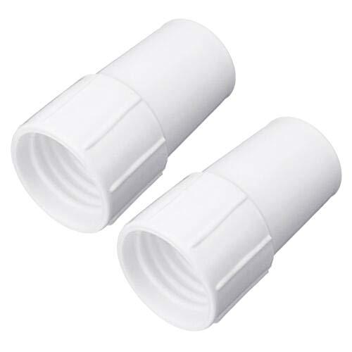 ZSooner Conector de manguera de piscina, 2 piezas, accesorios adaptadores, para el hogar, instalación de succión, manguitos de tubo de succión duraderos, accesorios de limpieza de repuesto de 3,8 cm
