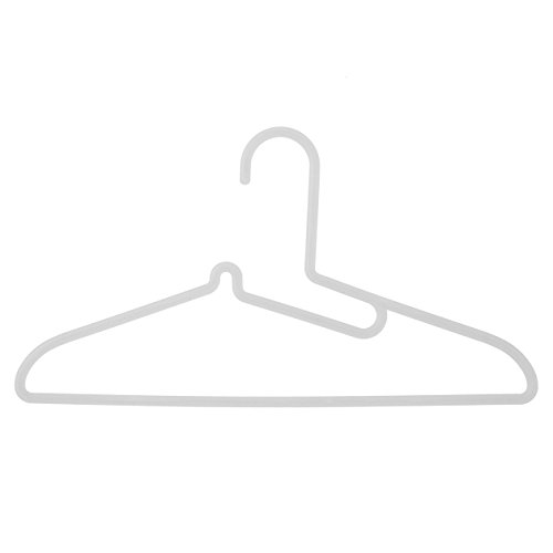 無印良品 【まとめ買い】ポリプロピレン洗濯用ハンガー・シャツ用・3本組 約幅41cm 20個セット