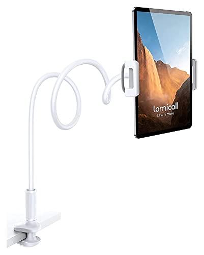 sacfun Soporte de Montaje en la Tableta de Cuello de Copa de Cuello para la Cama de la Tableta Flexible de la Cama, Soporte de Cama para Dispositivos de 4.7-11', como iPad Mini 7.9, Air 9.7, Pro 10.5