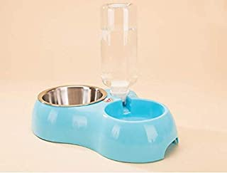 وعاء طعام الحيوانات الاليفة المزدوج المتعدد الاستخدامات - وعاء طعام وشرب اوتوماتيكي للكلاب والقطط - النوع : لوازم طعام