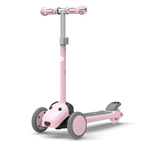 Mountalk 3 Wheel Scooters for Kids, Kick Scooter for Toddlers 2-8 Years Old, Boys and Girls Scooter with Light Up Wheels, Mini Scooter for Children, for Ride On Toys, Pink