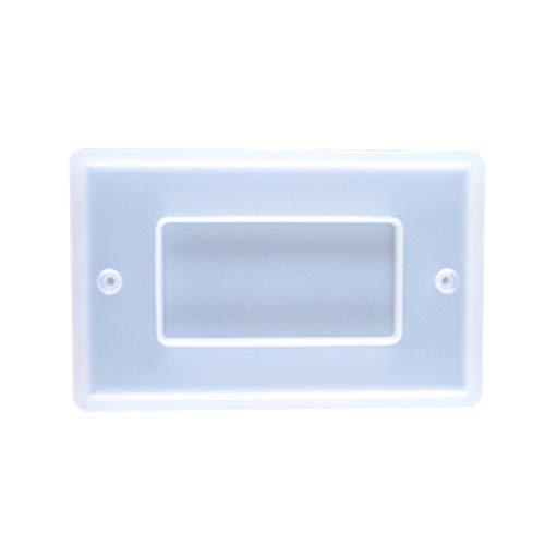 MYhose Molde de Resina epoxi de Cristal Molde USB Enchufe Panel Interruptor de luz Cubierta DIY Molde de Silicona 3 tamaños