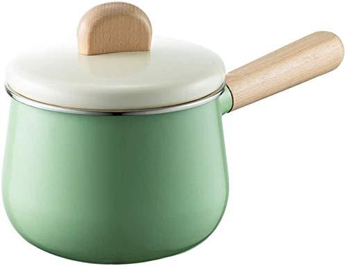 BAODI Cazo de Leche con Pote Antiadherente Leche Pan Multifuncional Esmalte para el hogar Suplemento de Alimentos de bebé 14 cm de diámetro