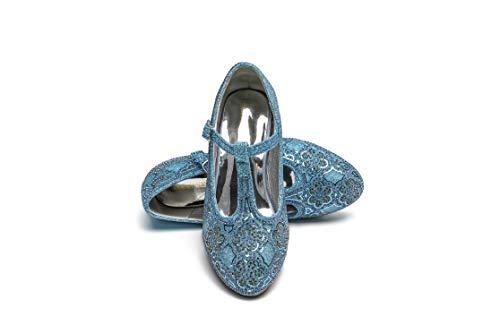 ELSA & ANNA® Gute Qualität Mädchen Schuhe Prinzessin Schnee Königin Gelee Partei Schuhe Sandalen BLU22 (31 EU)