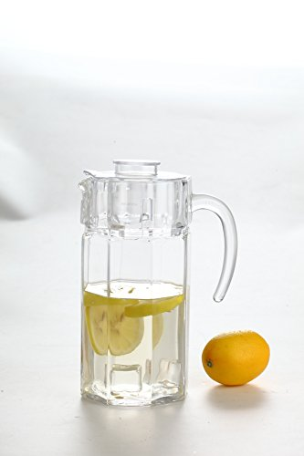 All For You Green Apple Clear LEAD FREE Glass Pitcher with Clear Lid (1.25L/42.25 OZ)