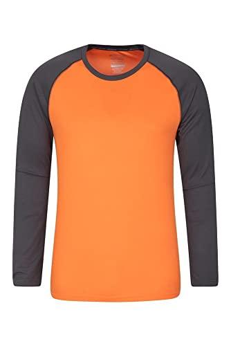 Mountain Warehouse Camiseta Endurance para Hombre - De Manga Larga, Secado rápido, Transpirable y con protección UPF 30 - para Primavera, excursiones, Viajes y acampadas Naranja M