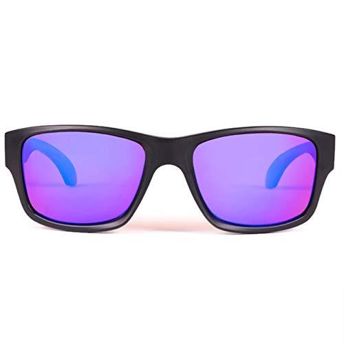 BluBlocker Black Matte Polarized Wayfarer with Blue Mirror Lenses - 4210K