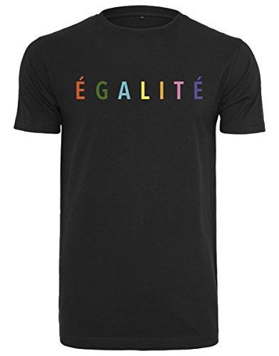 Mister Tee Herren Egalite Tee T-Shirt, Black, M