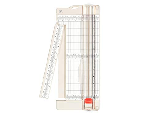 """Bira Craft Paper Trimmer and Scorer with Swing-Out Arm, 12"""" x 4.5"""" Base, Craft Trimmer, Trim and Score Board, for Coupons, Craft Paper and Photo"""