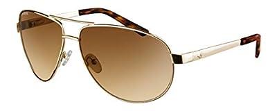 Ryders Aviator Sunglasses 100% UV Protection, Impact Resistant Sunglasses for Men, Women - Spitfire (Gold Frame/Brown Lens)
