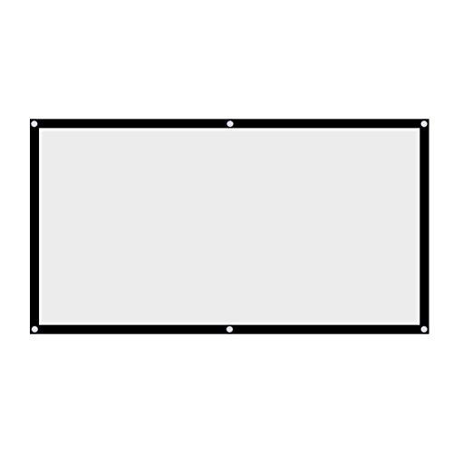 Pantalla de proyección Pantalla de proyección de cortina de proyector sin arrugas...